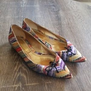 Missoni chevron print pointed toe flats size 38.5